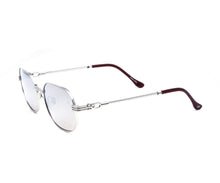 VF Hustler 18KT White Gold (Gray Silver Mirror) Side, VF by Vintage Frames, glasses frames, eyeglasses online, eyeglass frames, mens glasses, womens glasses, buy glasses online, designer eyeglasses, vintage sunglasses, retro sunglasses, vintage glasses, sunglass, eyeglass, glasses, lens, vintage frames company, vf
