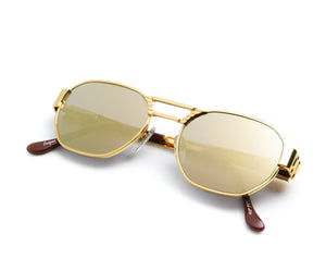 VF Crown Presidential 24KT Gold (Revo Brown), VF Masterpiece, vintage frames, vintage frame, vintage sunglasses, vintage glasses, retro sunglasses, retro glasses, vintage glasses, vintage designer sunglasses, vintage design glasses, eyeglass frames, glasses frames, sunglass frames, sunglass, eyeglass, glasses, lens, jewelry, vintage frames company, vf