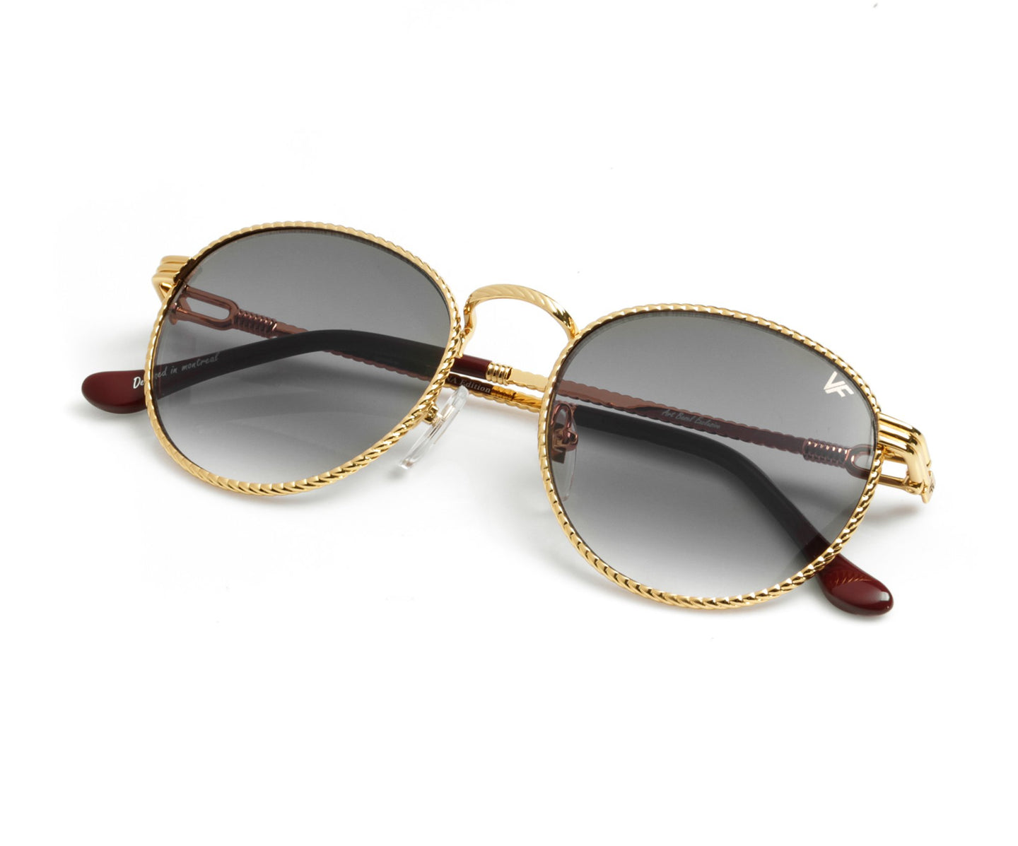 VF Miami Vice Full Rope 18KT Gold (Dark Gray), VF by Vintage Frames , glasses frames, eyeglasses online, eyeglass frames, mens glasses, womens glasses, buy glasses online, designer eyeglasses, vintage sunglasses, retro sunglasses, vintage glasses, sunglass, eyeglass, glasses, lens, vintage frames company, vf