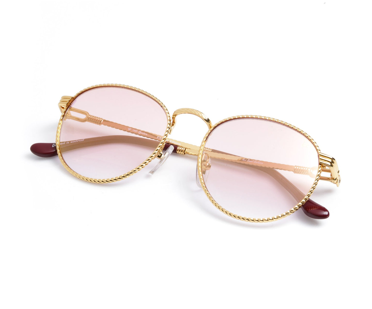 VF Miami Vice Full Rope 18KT Gold (Pink / Blue) Thumb, VF by Vintage Frames , glasses frames, eyeglasses online, eyeglass frames, mens glasses, womens glasses, buy glasses online, designer eyeglasses, vintage sunglasses, retro sunglasses, vintage glasses, sunglass, eyeglass, glasses, lens, vintage frames company, vf