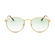 VF Miami Vice Full Rope 18KT Gold (Pastel Green) Front, VF by Vintage Frames, glasses frames, eyeglasses online, eyeglass frames, mens glasses, womens glasses, buy glasses online, designer eyeglasses, vintage sunglasses, retro sunglasses, vintage glasses, sunglass, eyeglass, glasses, lens, vintage frames company, vf