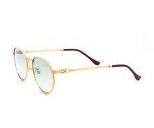 VF Miami Vice Full Rope 18KT Gold (Pastel Green) Side, VF by Vintage Frames, glasses frames, eyeglasses online, eyeglass frames, mens glasses, womens glasses, buy glasses online, designer eyeglasses, vintage sunglasses, retro sunglasses, vintage glasses, sunglass, eyeglass, glasses, lens, vintage frames company, vf