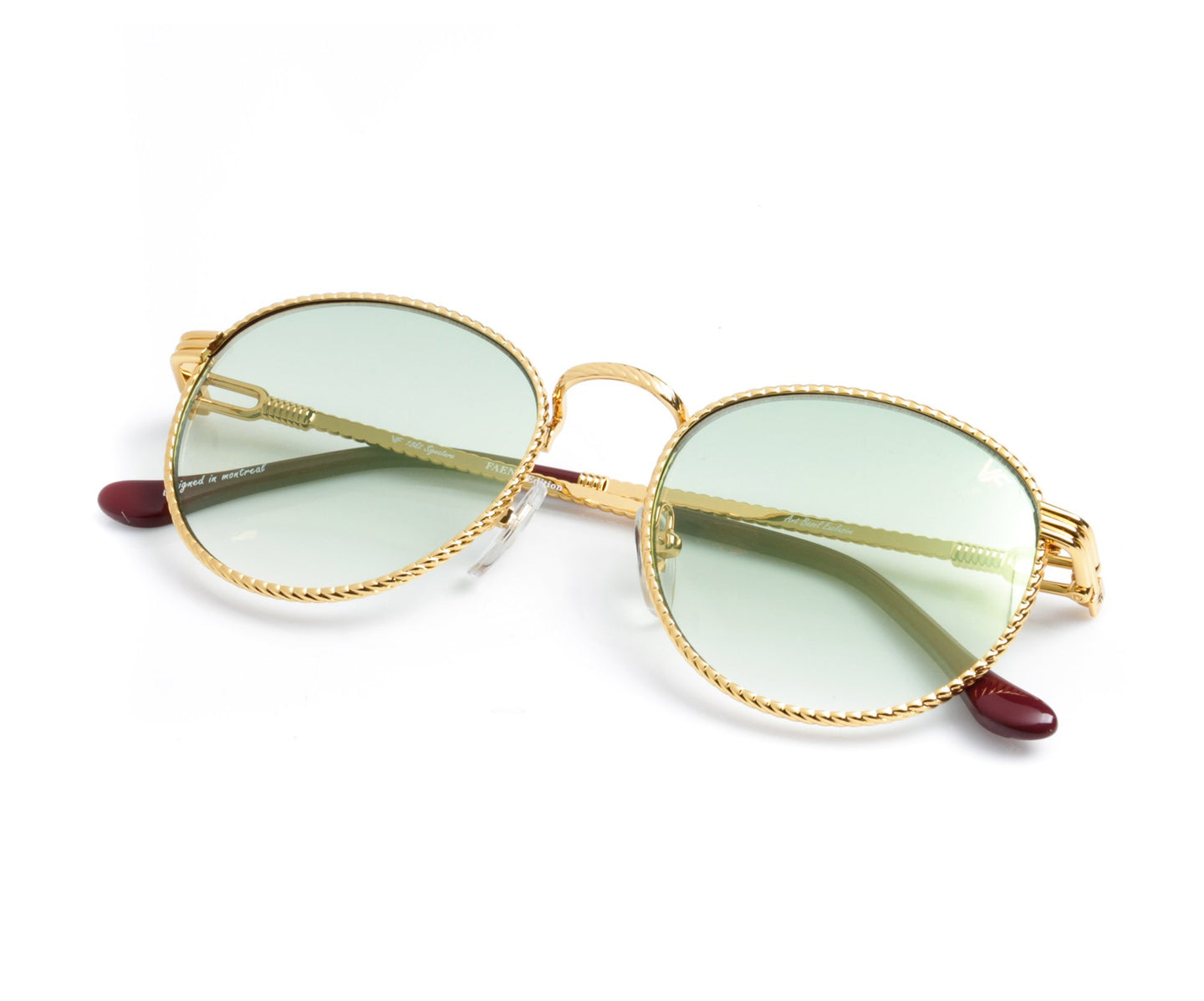VF Miami Vice Full Rope 18KT Gold (Pastel Green), VF by Vintage Frames , glasses frames, eyeglasses online, eyeglass frames, mens glasses, womens glasses, buy glasses online, designer eyeglasses, vintage sunglasses, retro sunglasses, vintage glasses, sunglass, eyeglass, glasses, lens, vintage frames company, vf