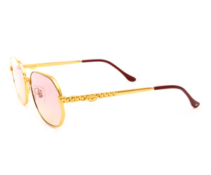 VF Hustler 24KT Gold Masterpiece (Pink / Yellow), VF Masterpiece, glasses frames, eyeglasses online, eyeglass frames, mens glasses, womens glasses, buy glasses online, designer eyeglasses, vintage sunglasses, retro sunglasses, vintage glasses, sunglass, eyeglass, glasses, lens, vintage frames company, vf