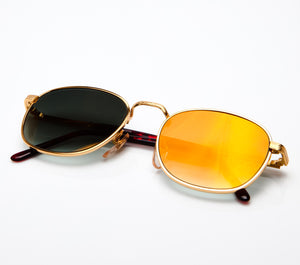 Detroit Player III Old Gold Special Edition Black Gradient Thumbnail, VF by Vintage Frames, glasses frames, eyeglasses online, eyeglass frames, mens glasses, womens glasses, buy glasses online, designer eyeglasses, vintage sunglasses, retro sunglasses, vintage glasses, sunglass, eyeglass, glasses, lens, vintage frames company, vf