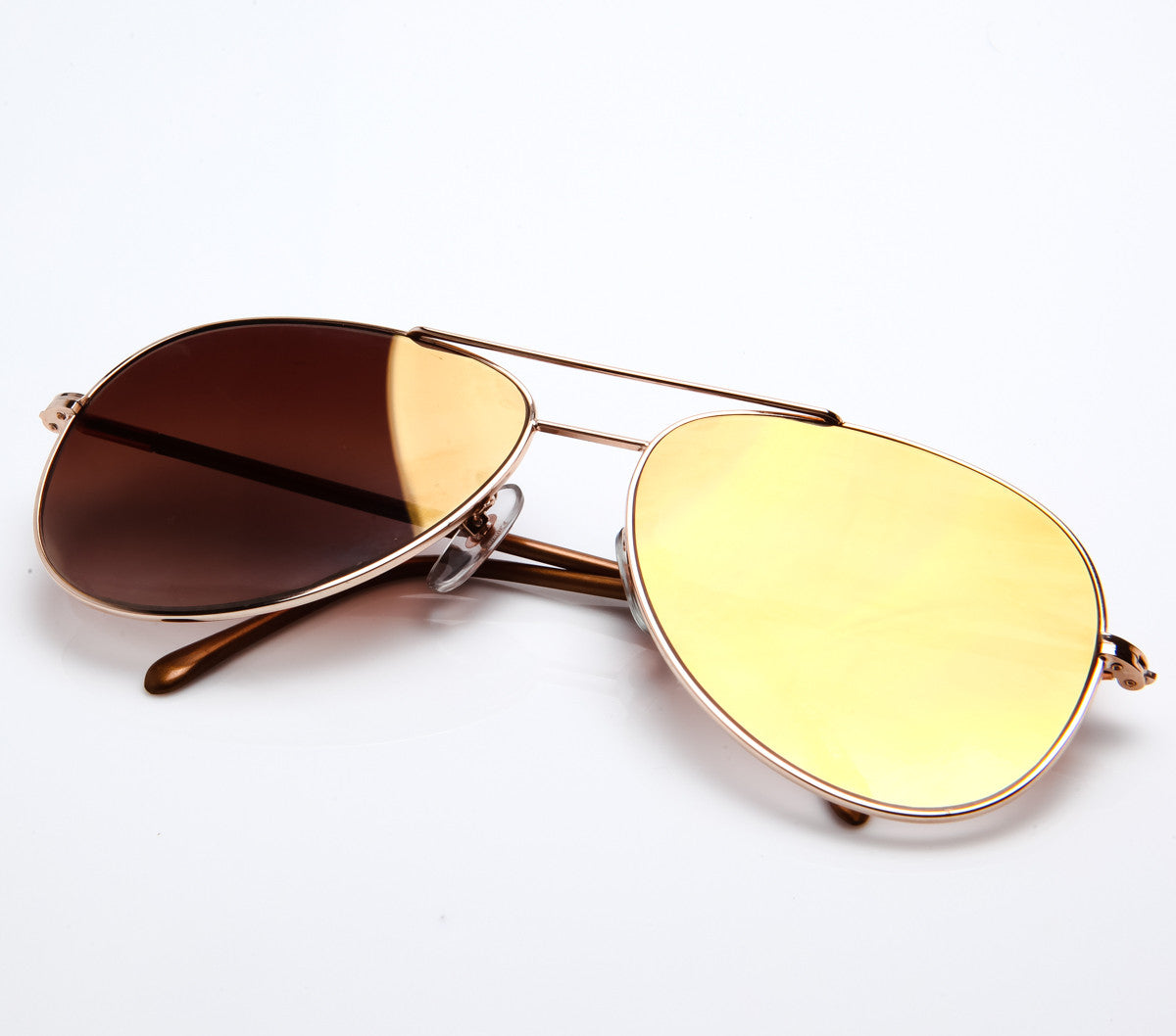 35479d799692 VF by Vintage Frames Scarface (Brown Gradient Flash Gold Flat Lens ...