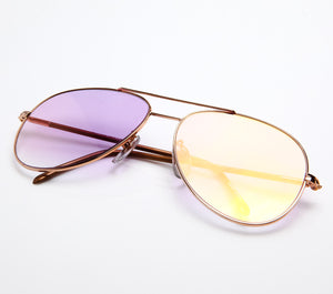 VF by Vintage Frames Scarface (Light Purple Gradient Flash Gold Flat Lens )