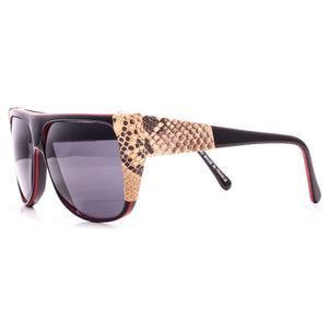 VFC The Trouser Snake Black Red Side, Vintage Frames Company, glasses frames, eyeglasses online, eyeglass frames, mens glasses, womens glasses, buy glasses online, designer eyeglasses, vintage sunglasses, retro sunglasses, vintage glasses, sunglass, eyeglass, glasses, lens, vintage frames company, vf