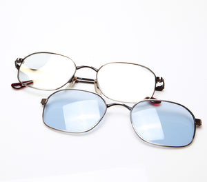 4eyes (Clear Flash Gold / Light Blue) Thumbnail, lens, vintage lens, clear lens, lens frames, lens frame, circle lens, mens glasses, womens glasses, lens width, vintage frames company, vf