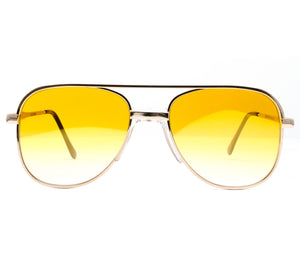 Amigo OG Yellow Gradient Front, VF by Vintage Frames, glasses frames, eyeglasses online, eyeglass frames, mens glasses, womens glasses, buy glasses online, designer eyeglasses, vintage sunglasses, retro sunglasses, vintage glasses, sunglass, eyeglass, glasses, lens, vintage frames company, vf