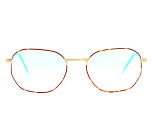 Detroit Player Art Basel Edition Blue Peach Front, VF by Vintage Frames, glasses frames, eyeglasses online, eyeglass frames, mens glasses, womens glasses, buy glasses online, designer eyeglasses, vintage sunglasses, retro sunglasses, vintage glasses, sunglass, eyeglass, glasses, lens, vintage frames company, vf