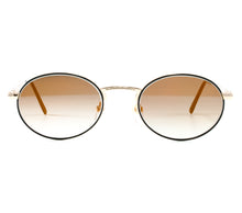 "VF by Vintage Frames Detroit Player The ""D"" Grail (Black Gradient Flash Gold Flat Lens) Front"