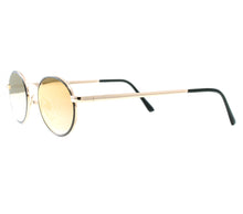 "VF by Vintage Frames Detroit Player The ""D"" Grail (Black Gradient Flash Gold Flat Lens) Side"