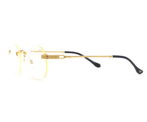 VF Detroit Player Drill Mount 24KT Gold Signature Edition (Clear) Side, VF Drill Mount, glasses frames, eyeglasses online, eyeglass frames, mens glasses, womens glasses, buy glasses online, designer eyeglasses, vintage sunglasses, retro sunglasses, vintage glasses, sunglass, eyeglass, glasses, lens, vintage frames company, vf