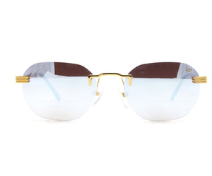 VF Detroit Player Drill Mount 24KT Gold Signature Edition (Light Blue Mirror Lens) Front