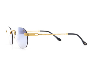 VF Detroit Player Drill Mount 24KT Gold Signature Edition (Light Blue Mirror Lens) Side