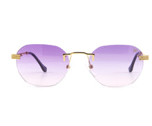VF Detroit Player Drill Mount 24KT Gold Signature Edition (Purple Gradient Lens) Front, VF Drill Mount, glasses frames, eyeglasses online, eyeglass frames, mens glasses, womens glasses, buy glasses online, designer eyeglasses, vintage sunglasses, retro sunglasses, vintage glasses, sunglass, eyeglass, glasses, lens, vintage frames company, vf