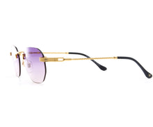 VF Detroit Player Drill Mount 24KT Gold Signature Edition (Purple Gradient Lens) Side, VF Drill Mount, glasses frames, eyeglasses online, eyeglass frames, mens glasses, womens glasses, buy glasses online, designer eyeglasses, vintage sunglasses, retro sunglasses, vintage glasses, sunglass, eyeglass, glasses, lens, vintage frames company, vf