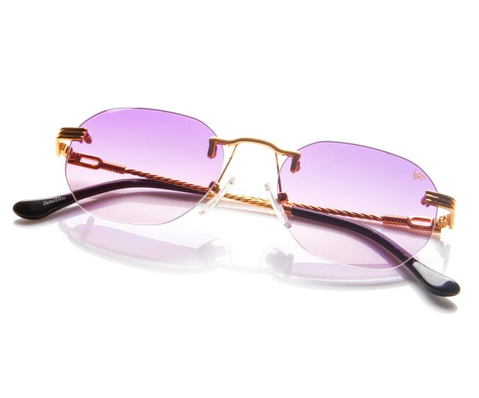 VF Detroit Player Drill Mount 24KT Gold Signature Edition (Purple Gradient Lens) Thumb