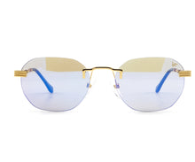 VF Detroit Player Drill Mount 24KT Gold Signature Edition (Smoke Flash Blue Lens) Front