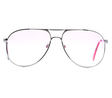VF by Vintage Frames Grand Master Snatch Drip Platinum (Candy Pink Gradient Yellow Multi Lens) Front