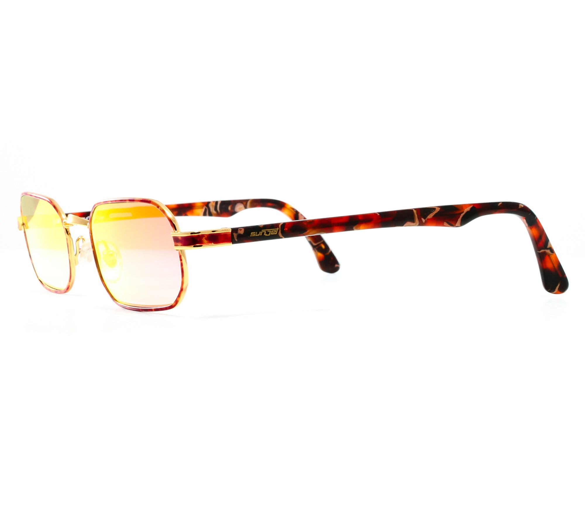 4586eabd3132 VF by Vintage Frames Remix Carrera (Grape Yellow Gradient Multi Flash Flat  Lens) side