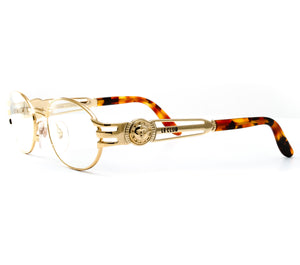 VF by Vintage Frames Le Club OG (Clear Flash Gold) Side, VF by Vintage Frames, glasses frames, eyeglasses online, eyeglass frames, mens glasses, womens glasses, buy glasses online, designer eyeglasses, vintage sunglasses, retro sunglasses, vintage glasses, sunglass, eyeglass, glasses, lens, vintage frames company, vf