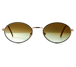 VF by Vintage Frames The Firm Grail (Moss Green Flash Gold Flat Lens) Front