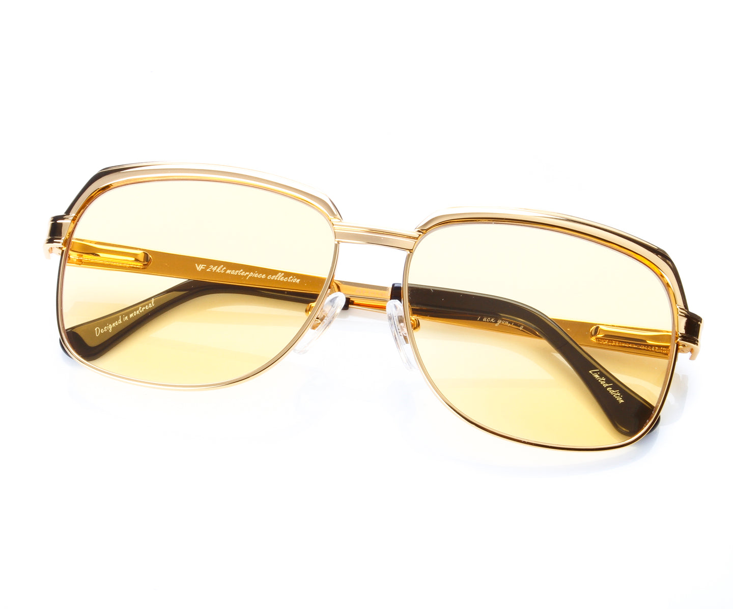 VF The Collector Masterpiece 24KT Gold Signature Edition (Honey Yellow), VF Masterpiece , glasses frames, eyeglasses online, eyeglass frames, mens glasses, womens glasses, buy glasses online, designer eyeglasses, vintage sunglasses, retro sunglasses, vintage glasses, sunglass, eyeglass, glasses, lens, vintage frames company, vf