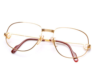 Cartier Romance Louis 56 (Clear), Cartier, glasses frames, eyeglasses online, eyeglass frames, mens glasses, womens glasses, buy glasses online, designer eyeglasses, vintage sunglasses, retro sunglasses, vintage glasses, sunglass, eyeglass, glasses, lens, vintage frames company, vf