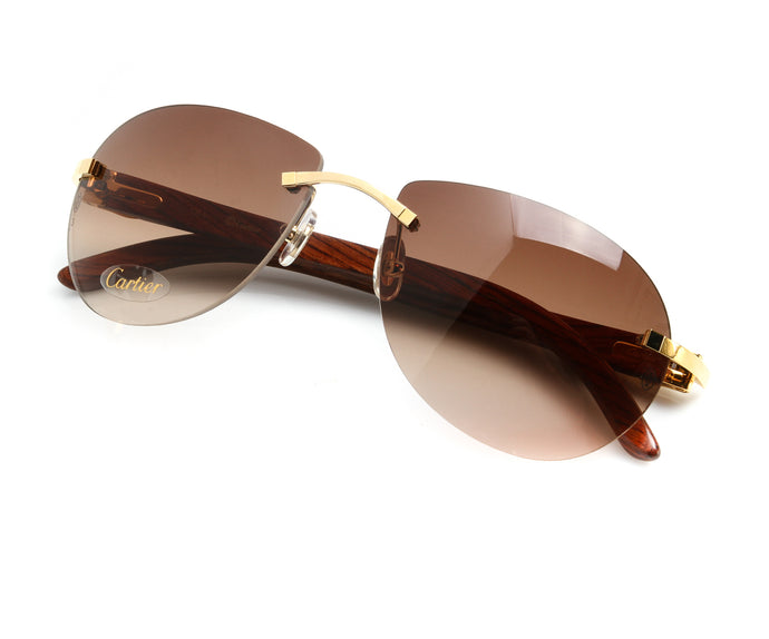Cartier C-Decor (Brown), Cartier, vintage frames, vintage frame, vintage sunglasses, vintage glasses, retro sunglasses, retro glasses, vintage glasses, vintage designer sunglasses, vintage design glasses, eyeglass frames, glasses frames, sunglass frames, sunglass, eyeglass, glasses, lens, jewelry, vintage frames company, vf