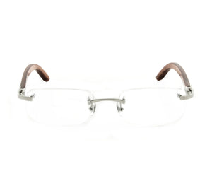 Cartier C-Decor 140b Silver (Uncut Gems) Front, Cartier, glasses frames, eyeglasses online, eyeglass frames, mens glasses, womens glasses, buy glasses online, designer eyeglasses, vintage sunglasses, retro sunglasses, vintage glasses, sunglass, eyeglass, glasses, lens, vintage frames company, vf