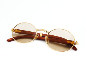 Cartier Giverny (Brown), Cartier, vintage frames, vintage frame, vintage sunglasses, vintage glasses, retro sunglasses, retro glasses, vintage glasses, vintage designer sunglasses, vintage design glasses, eyeglass frames, glasses frames, sunglass frames, sunglass, eyeglass, glasses, lens, jewelry, vintage frames company, vf