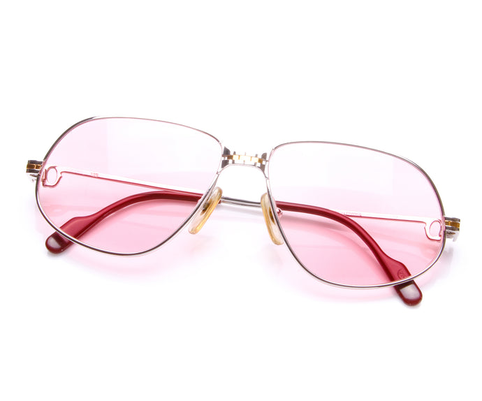 Cartier Panthere 2-Tone (Pink), Cartier, vintage frames, vintage frame, vintage sunglasses, vintage glasses, retro sunglasses, retro glasses, vintage glasses, vintage designer sunglasses, vintage design glasses, eyeglass frames, glasses frames, sunglass frames, sunglass, eyeglass, glasses, lens, jewelry, vintage frames company, vf