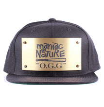 "Vintage Frames Company ""Maniac By Nature"" Black/Gold Snapback Front"