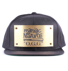 "Vintage Frames Company ""Maniac By Nature"" Black/Gold Snapback"