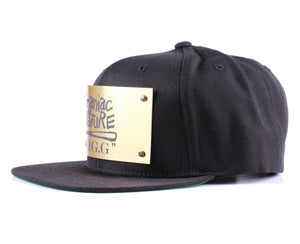 "Vintage Frames Company ""Maniac By Nature"" Black/Gold Snapback Side"