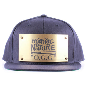 "Vintage Frames Company ""Maniac By Nature"" Blue/Gold Snapback, The Vintage Frames Company, vintage frames, vintage frame, vintage sunglasses, vintage glasses, retro sunglasses, retro glasses, vintage glasses, vintage designer sunglasses, vintage design glasses, eyeglass frames, glasses frames, sunglass frames, sunglass, eyeglass, glasses, lens, jewelry, vintage frames company, vf"