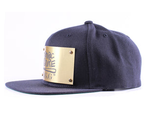 "Vintage Frames Company ""Maniac By Nature"" Blue/Gold Snapback Side"