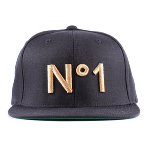 Vintage Frames Company N#1 Embroidered Black/Gold Snapback