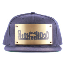 "Vintage Frames Company ""Rich N The Hood"" Blue/Gold Snapback Front, The Vintage Frames Company, glasses frames, eyeglasses online, eyeglass frames, mens glasses, womens glasses, buy glasses online, designer eyeglasses, vintage sunglasses, retro sunglasses, vintage glasses, sunglass, eyeglass, glasses, lens, vintage frames company, vf"