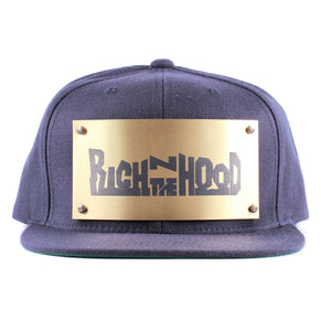 "Vintage Frames Company ""Rich N The Hood"" Blue/Gold Snapback"