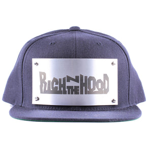 "Vintage Frames Company ""Rich N The Hood"" Blue/Silver Snapback Front"