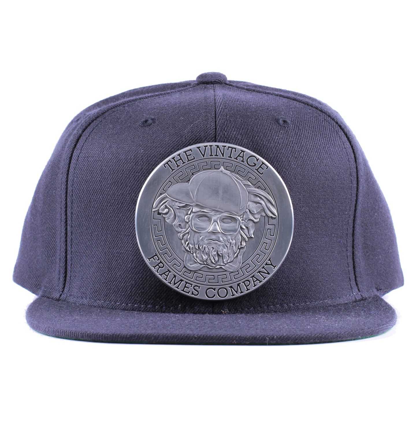 Vintage Frames Company Thinking Cap Blue/Matte Silver Snapback Front