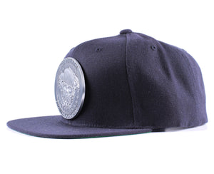 Vintage Frames Company Thinking Cap Blue/Matte Silver Snapback Side
