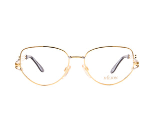 Vintage Hilton 110 03 22 KGP Front, Hilton, glasses frames, eyeglasses online, eyeglass frames, mens glasses, womens glasses, buy glasses online, designer eyeglasses, vintage sunglasses, retro sunglasses, vintage glasses, sunglass, eyeglass, glasses, lens, vintage frames company, vf