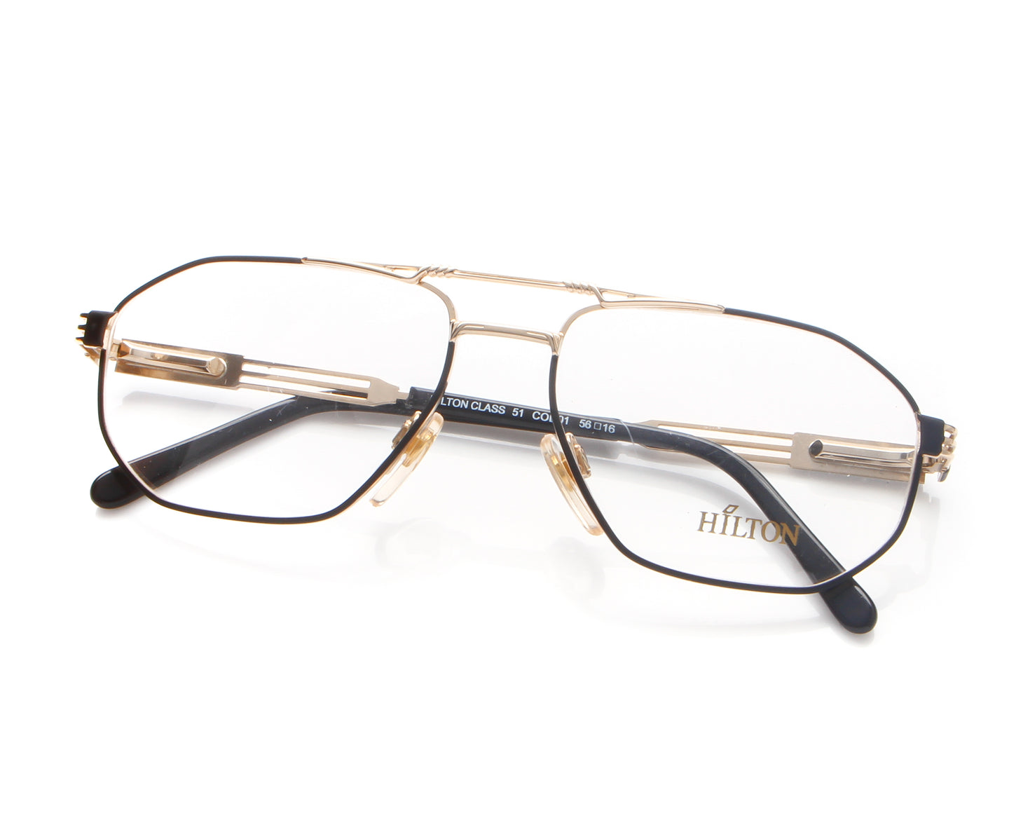 Vintage Hilton Class 51 01 22 KGP Thumb, Hilton , glasses frames, eyeglasses online, eyeglass frames, mens glasses, womens glasses, buy glasses online, designer eyeglasses, vintage sunglasses, retro sunglasses, vintage glasses, sunglass, eyeglass, glasses, lens, vintage frames company, vf