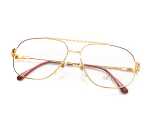 Vintage Hilton Class 703 2 24KT Thumb, Hilton, glasses frames, eyeglasses online, eyeglass frames, mens glasses, womens glasses, buy glasses online, designer eyeglasses, vintage sunglasses, retro sunglasses, vintage glasses, sunglass, eyeglass, glasses, lens, vintage frames company, vf