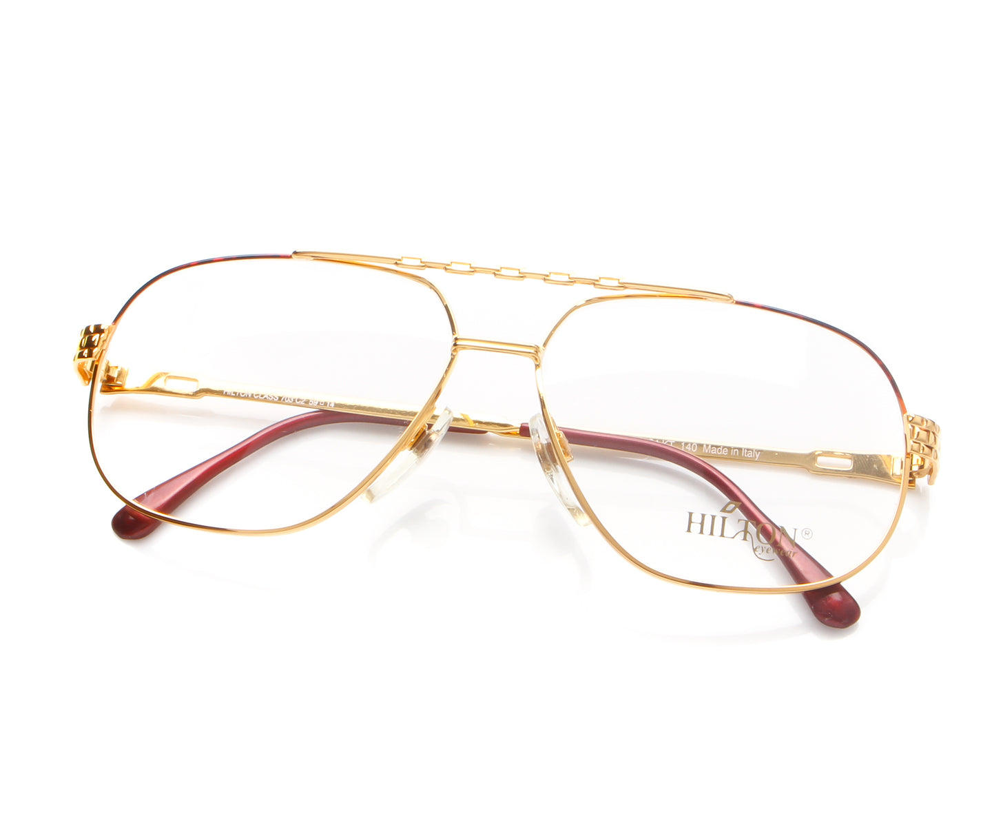 Vintage Hilton Class 703 2 24KT Thumb, Hilton , glasses frames, eyeglasses online, eyeglass frames, mens glasses, womens glasses, buy glasses online, designer eyeglasses, vintage sunglasses, retro sunglasses, vintage glasses, sunglass, eyeglass, glasses, lens, vintage frames company, vf