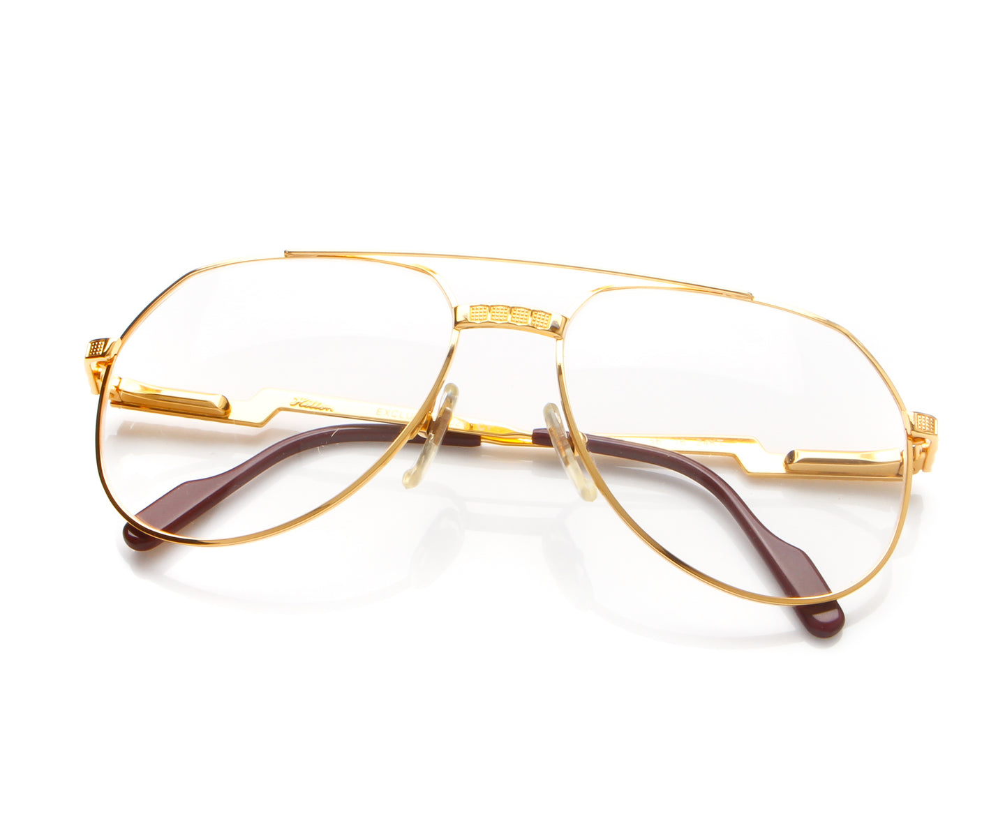 Vintage Hilton Exclusive 021 1 24KT Thumb, Hilton , glasses frames, eyeglasses online, eyeglass frames, mens glasses, womens glasses, buy glasses online, designer eyeglasses, vintage sunglasses, retro sunglasses, vintage glasses, sunglass, eyeglass, glasses, lens, vintage frames company, vf